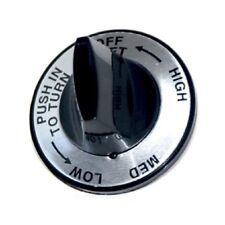 Charmglow Older Gas Grill Silver Faced Gas Control Knob (Left Side) New K-12Lb