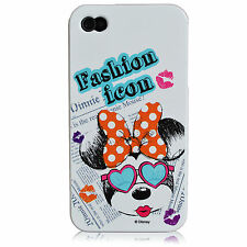 For iPhone 4 4S Minnie Mouse Fashion Icon Disney Mickey Series TPU Silicone Case