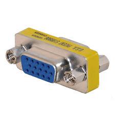 HD15 VGA SVGA Female to Female Mini Gender Changer Adapter Coupler Connector