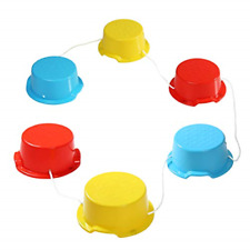 Milliard Kid's Stepping Balance Buckets 6-Pack with Blue, Red, Yellow with Pads