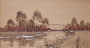 Francis Gordon Fraser (1879-1931) Pair Watercolour Paintings River Scenes 1903