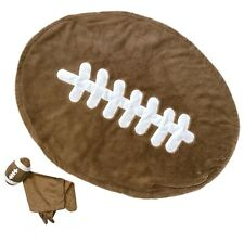 Baby Boys Sports Football Plush Faux Fur Throw Matching Security Blanket Lovey