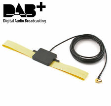 DAB+ Antenne mit Verstärker Klebeantenne Scheibenantenne Antenne Auto KFZ SMB