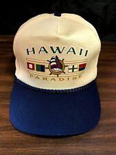 75ae0659150 Vintage 1980 s Hawaiian Hawaii Paradise Rope Snapback Hat Skateboard Surf  Beach