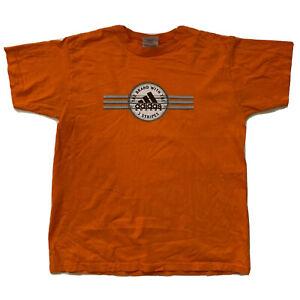 Adidas T-Shirt Youth Size L Orange Soccer Vtg Retro Tee