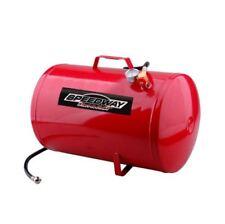 Portable Air Tank, 10 Gallon 125-PSI Steel Air Compressor Tank W/ Gauge & Hose