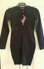 BNWT Motel @ Topshop Black Lace Up Bodycon Dress Cordelia Size Small 8 10