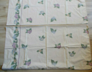 King Pillowcases Lavender And Blue Foral Tan