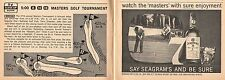 1963 tv ad ~ Jack Nicklaus Edges Tony Lema to Win the MASTERS GOLF TOURNAMENT