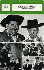 Actor Card. Fiche Cinéma Acteurs. Laurel et Hardy (U.S.A.) Période 1931-1951