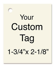 100 CUSTOM DESIGN HANG TAGS & STRINGS. PERSONALIZED PRICE CARDSTOCK INFO CRAFTS