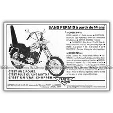 PUB FANTIC MOTOR 125 CHOPPER - Original Advert / Publicité Moto 1974