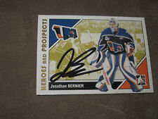 JONATHAN BERNIER AUTOGRAPHED 2007-2008 ITG HEROES AND PROSPECTS CARD