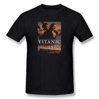 Men's Rare Vintage Titanic Movie O-neck Short Loose T-shirts Graphic Tee Shirt