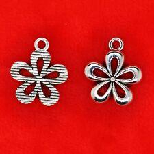 12 x Tibetan Silver Flower Daisy Filigree Charms Pendants Beads