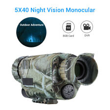 5x40 Night Vision Monocular 8Gb Dvr With Adjustable Focus for Hunting Security