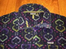 Patagonia USA Made Mens Snap-T Fleece Pullover Indian Print Size Med Vintage EUC