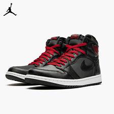 Nike Air Jordan 1 Retro High OG Black Satin Gym Red 555088-060 Men's Size 11