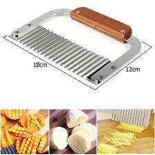 1pcs of Stainless Steel Potato Chip Dough Vegetable Crinkle Wavy Cutter Blade UK