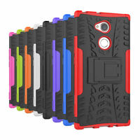 Shockproof Hybrid Rugged Rubber Stand Hard Case Cover for Sony Xperia XA2 Ultra
