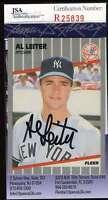 Al Leiter 1988 Fleer Yankees Jsa Coa Hand Signed Authentic Autographed