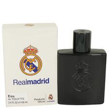 Air Val Real Madrid Black Cologne Men 3.4 oz Eau De Toilette Spray Fragrance New