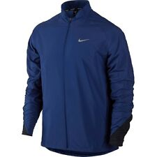 Nike Da Uomo Giacca Running Training Top Taglia S Small Royal Navy Blue 717792-455