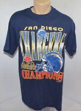 Vtg 90s 1994 True Fan San Diego Chargers Afc Champions Nfl T Shirt Mens M