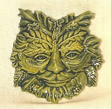 Green Man, Porcelain Collectible, Gel Candle Embed, Religious Cultures