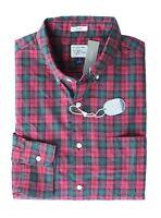 J Crew - Mens S Slim Fit - NWT - Red/Green Tartan Plaid Heathered Cotton Shirt