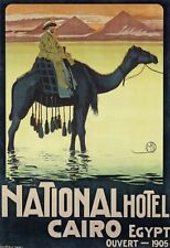 Egypt Hotel Cairo 1905 Poster 24in x36in