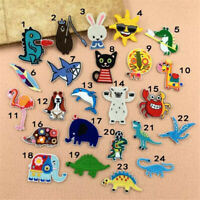 24Pcs Random Fabric Patches Lot Girls Kids Iron On For Clothing Jeans Repair Kit