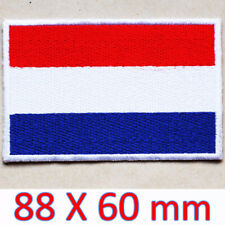 Large Patch Netherlands Dutch Flag Embroidered Iron On Nederland Holland Europe