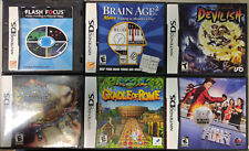 Lot of six (6) Nintendo Ds/Dsi Games *Also plays in 3ds and 2ds*