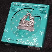 New Original Box 2005 Gloria Duchin Creche Miracles Do Happen Pewter Ornament