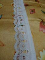 xix du fait main tres ancienne dentelle,col,jupon ,poignets ,vétements d époque