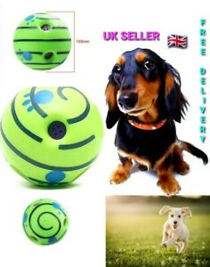 15CM Wobble Wag Giggle Ball Dog Play Training Pet Toy With Funny Sound, UK Brand