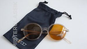 Oliver Peoples Corby round Crystal/Gold 51-19 w/ Golden Amber sun lenses & case