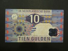 Niederlande:   10 Gulden-Banknote, gebraucht aus Umlauf (used), 1997