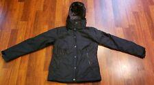 Columbia Womens Hooded Med Weight Winter Black Nylon Jacket Coat Hood Small