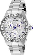New Ladies Invicta 28457 Angel 38mm Silver Stainless Steel Quartz Watch
