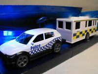 TOY POLICE CAR COMMAND CENTER MODEL POLICE CAR AND INCIDENT COMMAND TRAILER NEW