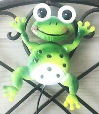 "Smiling Frog Garden Pick 5"" h x 5"" w x 18"" l Frog Flower Pot Stake"