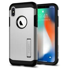 for Apple iPhone X 10 Spigen Tough Armor Rugged Slim Shockproof Case Cover Satin Silver