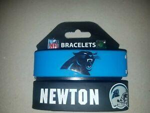 NFL Carolina Panthers Cam Newton rubber wrist band fan bracelet silicone 2 pack