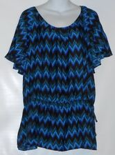 Beverly Drive Woman's Plus Size Short Sleeve Tunic Blouse Top 16/18W NWT