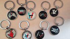 Twenty One Pilots Merch Keychain with Dome Glass Key chain for backpacks etc