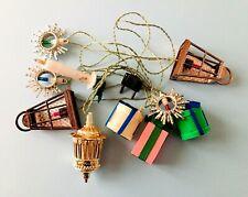 LUCI Natalizie serie 10 decorazioni ANNI 50-60 vintage FUNZIONANTI Natale retrò