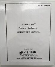 Digitech Series 500 Protocol Analyzers Operator Manual P/N 810-00195B