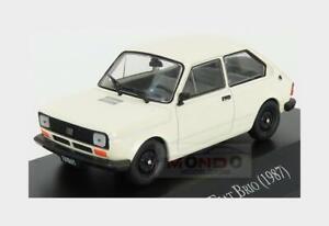 Fiat Brio 1987 (Base Fiat 127) White EDICOLA 1:43 AUTOSINOLANCOLL022